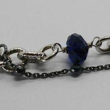 Silber Armband 925 Rhodium und Brüniert mit Kristallen Bunt Made in Italien image 5