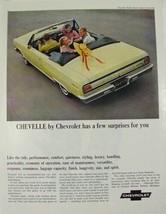 1965 Chevrolet Chevelle Malibu Super Sport Convertible yellow Print ad - $9.99