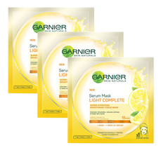 Garnier Serum Mask Light Complete Reduce Dullness Darkspot (Pack3)  - $14.73