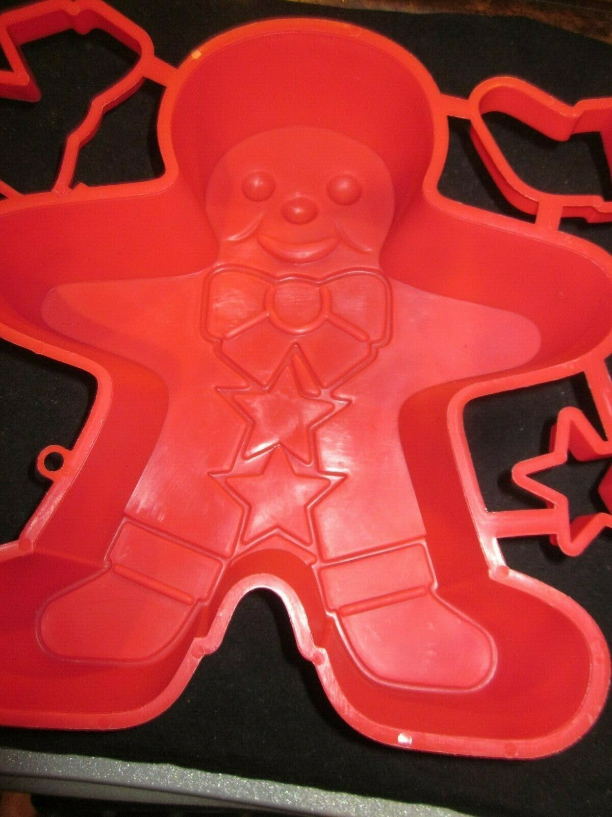 Vintage Large Jll-o Gingerbread Man Mold & Jiggler Cookie Cutters Brand New image 2