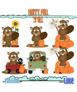 Beavers Fever Happy Fall Y'all Clip Art - $1.35