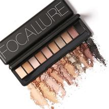 Focallure 10 Colors Naked Eye Shadow Palette Eyeshadow Shadow Shade for Eyebrows - $5.06