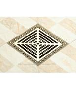 Vintage Shower Square Grate Drain Copper Brass Floor Trap Wholesale Reta... - $143.99