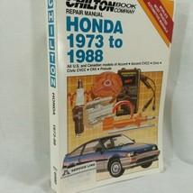Chilton Repair Manual 1973 to 1988 Honda Accord Civic CRX Prelude US Canadian - $11.26