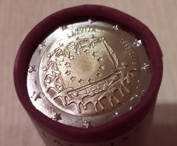 Latvia 30th Anniversary of the Flag of Europe 2 euro coin roll 2015, 25 ... - $81.21