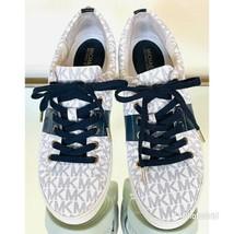michael michael kors signature monogram casual w/blk sneakers women's sh... - $45.52