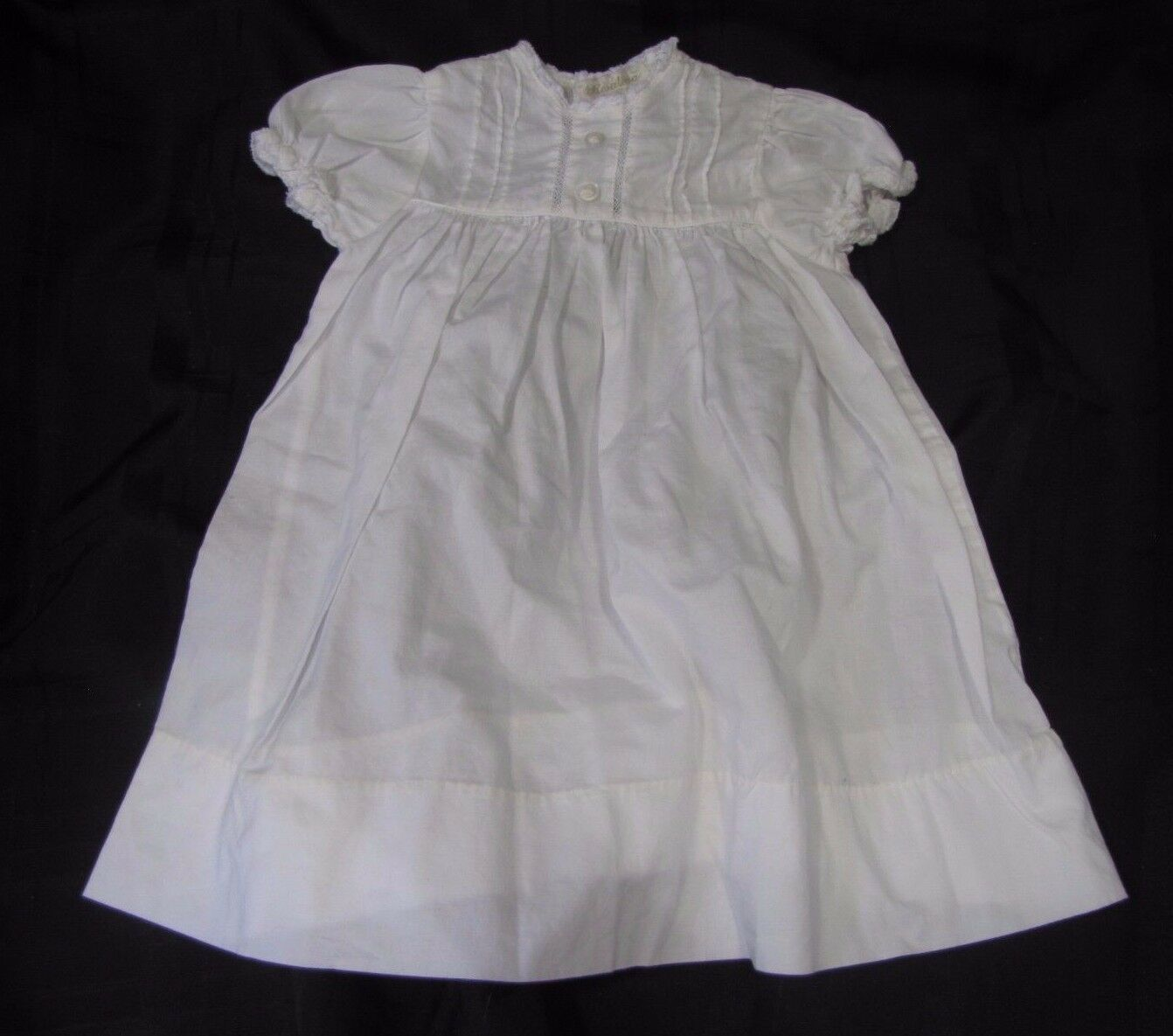 Primary image for ROSALINA LIGHTWEIGHT BABY INFANT GIRL WHITE COTTON DRESS 0-3 EUC