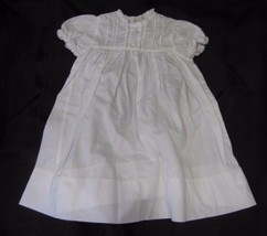 ROSALINA LIGHTWEIGHT BABY INFANT GIRL WHITE COTTON DRESS 0-3 EUC - $28.21