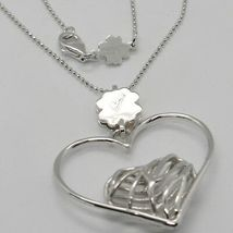 Necklace Silver 925 with Heart Pendant in Heart by Maria Ielpo , Made in Italy image 3