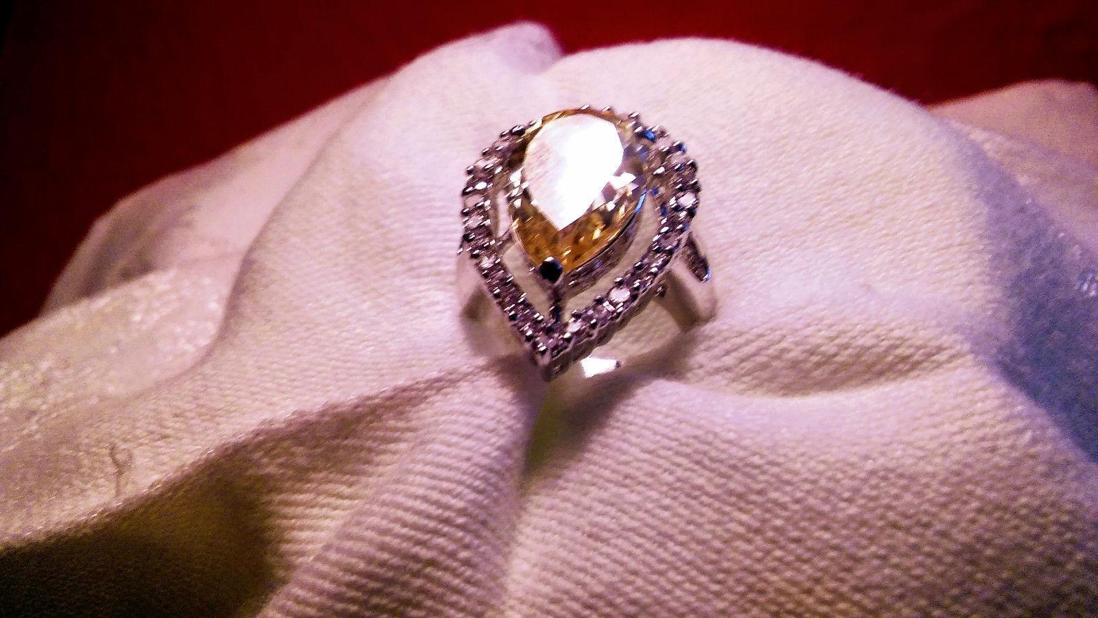 Melania Trump Jewelry Pear Cut Sim. Yellow and 50 similar items