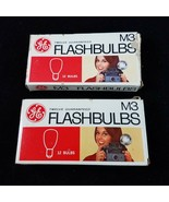 Vintage GE M3 Clear Flashbulbs Camera Flash Bulbs Set of 2 Boxes 24 Total - £14.31 GBP