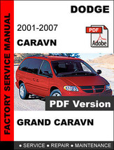 Dodge Caravan 2001 - 2007 Oem Service Repair Workshop Manual + Wiring Diagram - $14.95