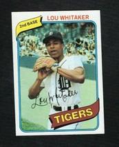 1980 Topps Baseball Card LOU WHITAKER #358 Detroit Tigers - $1.57