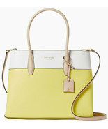 Kate Spade Eva Satchel Crossbody Yellow Leather WKRU6760 NWT Retail White - $196.11