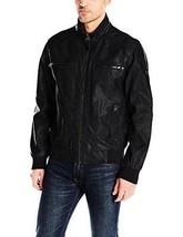 Calvin Klein Men's Faux-Leather Bomber Jacket - Choose SZ/Color - $82.05+