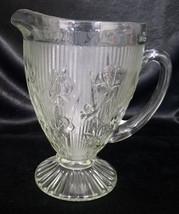 Vintage Jeannette Clear Iris 56 oz. Pitcher (1928-1932) - $35.00