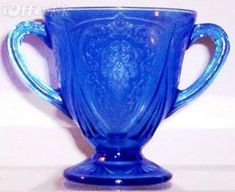 DEPRESSION GLASS-- HAZEL ATLAS ROYAL LACE SUGAR BOWL - $52.45