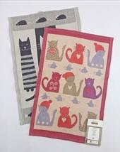 Ekelund Weavers Cats Tea Towel Kitchen Hand Towel lot of 2 NEW  Small 14... - $32.69