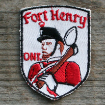 FORT HENRY Vintage Travel Patch ONTARIO Canada Souvenir Voyager FREE SHI... - $9.85