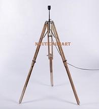 NauticalMart Designer Cream Sheesham Wood Tripod Floor Lamp Base - $98.01