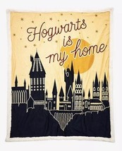Harry Potter Hogwarts Is My Home Sherpa Style Throw Super Soft Blanket 5... - $42.07