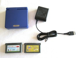 Nintendo Game Boy Advance GBA SP Blue-Purple AGS-001 New Battery Charger... - $54.99