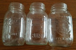 (3) Regular Mouth Quart Glass Jars For Canning - $11.88