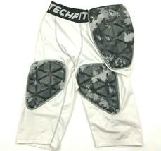 Adidas Techfit Imbottito Compressione Pantaloni Bianco 3/4 Gamba Serie Baseball - $23.28