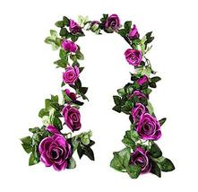 Panda Legends [Purple Rose] Artificial Flower Vines Fake Flowers Decor f... - $13.44