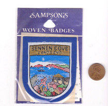 Vtg SENNEN COVE Lands End Patch-Travel-Sampson Souvenir-Blue Felt-Europe... - $14.01