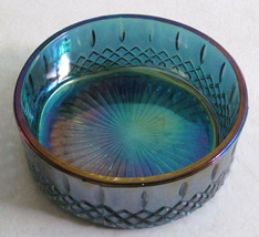 Vintage Indiana Glass Blue/Purple Carnival Iridescent Color Grape Candy ... - $27.99