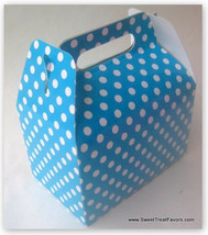 BLUE WHITE POLKA Party Supplies BOXES Birthday Decoration GABLE Loots x1... - $12.82
