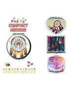 Dream catcher makeup mirror compact mirror purse mirror travel mirror - $11.99