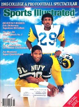 Sports Illustrated Magazine, 1985, College & Pro Football Spectacular - $3.75