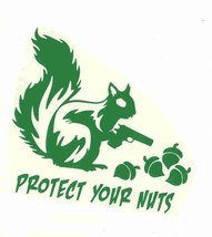protect your nuts green decal ideal cars, trucks, home etc easy to apply