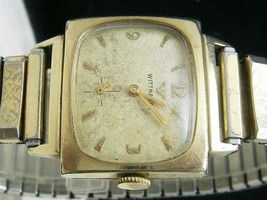 1950s Longines Wittnauer Men's watch cal.9WNG 10K gold-clad hand-winding - $216.81