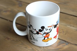 Vintage 1986 Walt Dinsey Applause Mug Mickey Mouse Thru the Years - $11.88