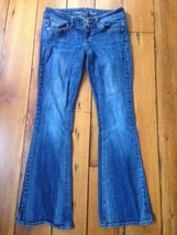 American Eagle Stretch Artist Low Rise Flared Dark Wash Womens Jeans 0 S... - $1,000.00