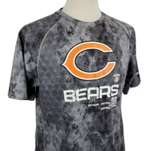 Reebok Play Dry Chicago Bears T-Shirt Small Crew Neck Speed Wick NFL Equ... - $17.79