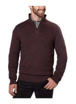 Calvin Klein Men's ¼ Zip Sweater,  Pinot Grindle , Large - $22.99