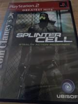Sony PS2 Tom Clancy's Splinter Cell (no manual) image 1