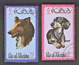 Ras al Khaima Stamps-Collection Set of 2 Free Shipping- #3099   - $1.68