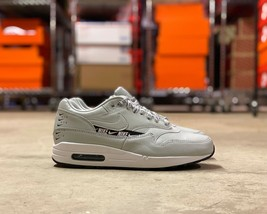 Nike Air Max 1 SE Overbranded Womens Shoes Silver Black White 881101-004... - $100.00