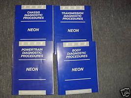 2002 DODGE NEON Diagnostics Procedures Service Shop Repair Manual SET - $22.72