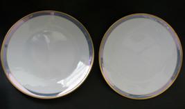 "2 Rosenthal Gala Blue Classic Rose Dessert Plates 6 3/4"" Loewy Mid Century - $37.61"