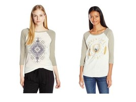 O'Neill Junior Women's Scoop Neck Graphic Tee Shirt T-Shirt Magnolia Adventure