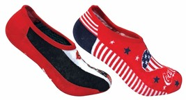 Coca Cola - 2 Pack Womens Patterned Cotton Low Cut Invisible No Show Ankle Socks - $12.99