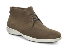 Ecco Men's Grenoble Lace Chukka Birch Suede Casual Comfort Boot $180 msr... - $98.90