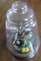 Vtg Cloche Butterfly & Dried Orange Flowers Ter... - $18.80