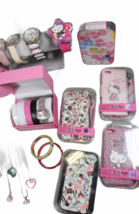 Large Sanrio Hello Kitty Assorted Jewelry Accessories Lot Watch Necklace Bank image 8